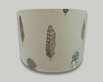 Feather Drum Lampshade Lightshade 20cm 25cm 30cm 35cm 40cm sizes available