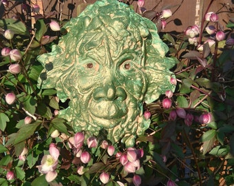 Green man mythical face