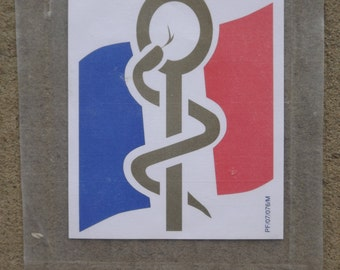 The French army vintage sticker / French army Collection / advertising sticker of the French army's health service