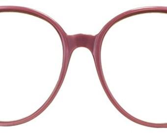 Mauve Vintage Plastic Eyeglasses