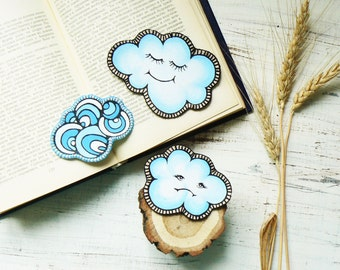 Cloud Patch Iron on Patches Cute Patches Set of Patches for Jackets Blue Patches Sew on Patches Embroidered Patches