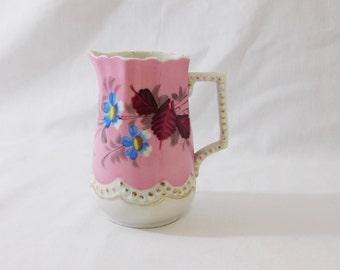 Vintage Creamer - Hand Painted Victorian Style Porcelain Creamer