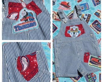 Thomas The Tank - Overalls - Baby clothes - Baby Shower Gift