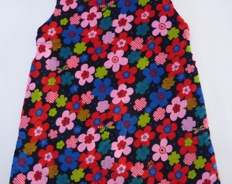 Happy tunic dress with flowers, size 74