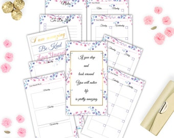 Planner inserts personal, Printable weekly planner, Planner printable, Monthly planner, To do list, Notes