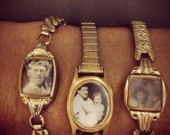 Photo locket bracelet