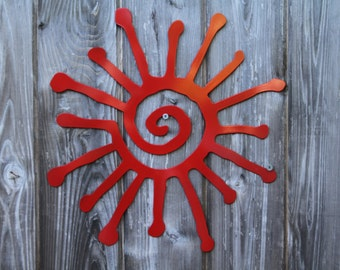 Tribal Sun Wall Hanging 12 inches (Steel)