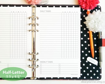 PRINTED planner insert - Cleaning checklist - Weekly chores insert - Half letter A5 planner refill - Weekly to do list - 02H