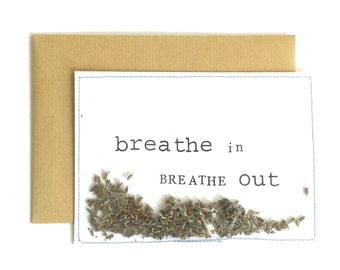 Breath in breath out I Ansichtkaart/Postcard