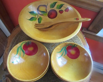 All complete dish and 4 Salad bowls