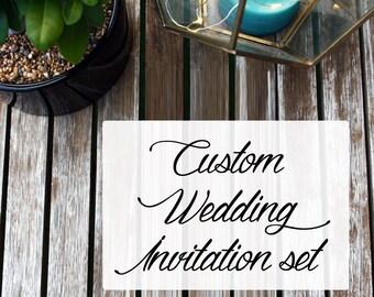 Custom Wedding Invitation Kit design