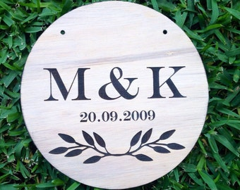 Custom Personalised Wooden Timber Couples Plaque. For Weddings, House warmings, Engagements or even Valentines Day gift ideas. Home Decor.