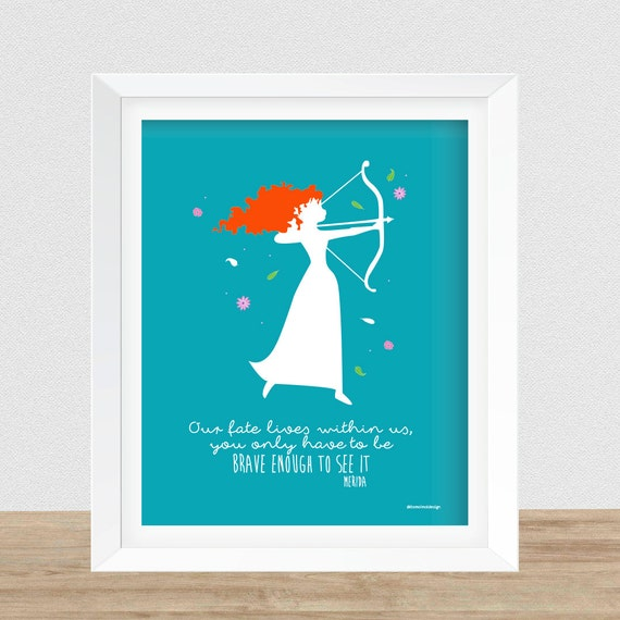 Wall Art Quotes Disney : Disney brave wall art printable merida quote by
