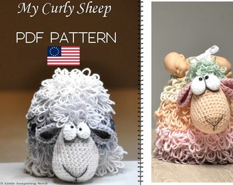 crochet sheep amigurumi  - ENGLISH PDF digital crochet pattern