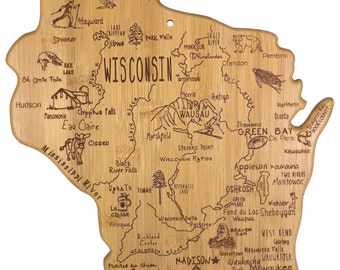 Wisconsin Engraved Cutting Board