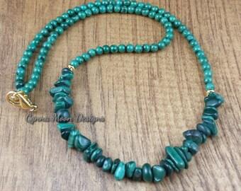 Genuine Malachite Necklace