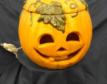 Happy pumpkin light