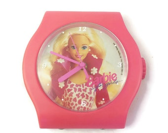 1993 Barbie Clock / Oversized Watch Face (Mountable with hardware)