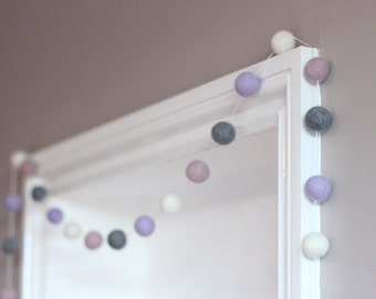Felt ball garland, nursery decor