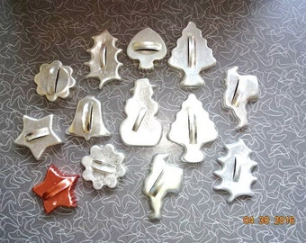 Set of 13 cookie cutters
