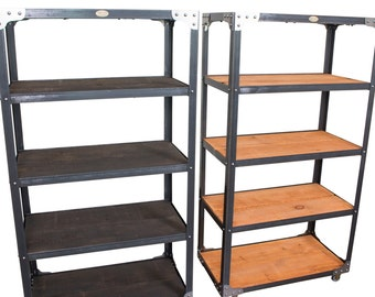 Matching Industrial Bookcase Pair