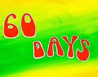 60 Days Funny Sobriety Card