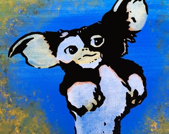 "MR.BABES ""Gremlins: Gizmo"" Original Pop Art Painting One Of A Kind Acrylic On Canvas Signed 30"" x 30"""