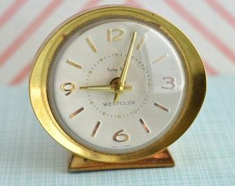 Vintage Westclox Baby Ben Alarm Clock   Vintage Alarm Clock   Baby Ben Gold Clock