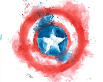 Captain America's shield print