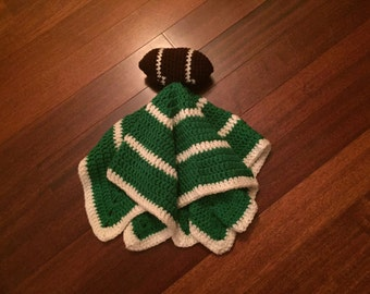Crochet Football Lovey, Security Blanket