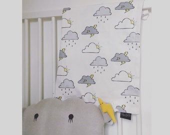 Cloud print baby blanket