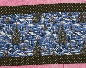 Snow Scene Table Runner