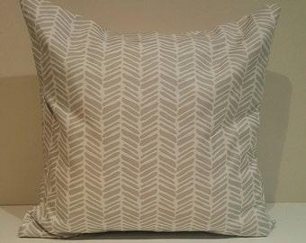 Cushion Cover - Grey Herringbone