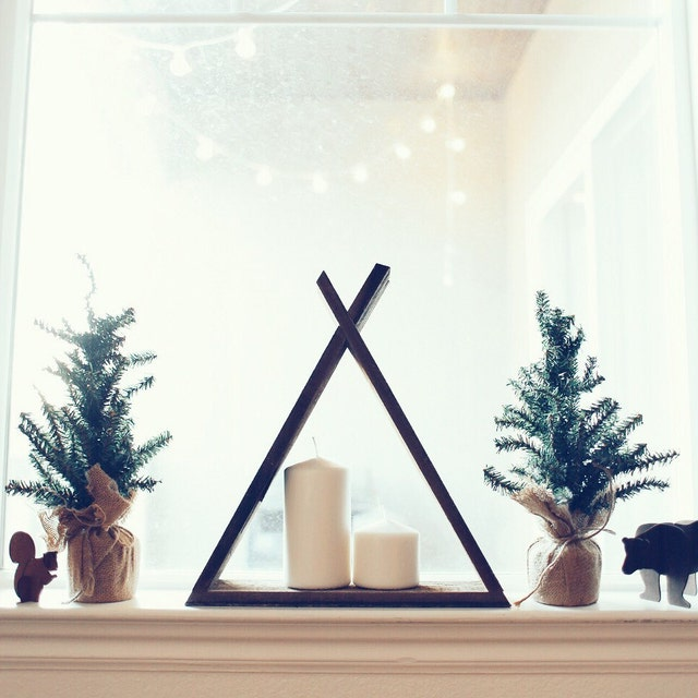 Home Made Modern Craft Of The Week 2 Rustic Christmas Stars: Home Decor With A Modern And Rustic Feel By WoodenGeometric