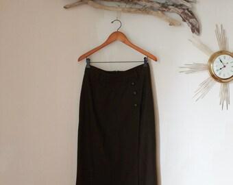 Long Wool Skirt Size L