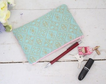 Colourful Pouch, Two Tone Pouch, Zipper Pouch, Cotton Pouch, Makeup Pouch, Pencil Case