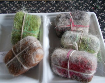 Llama Felted Goat-Milk Soap  - Hand-Made