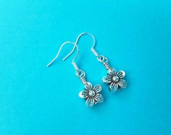 Petite Flower Drops . Earrings