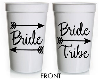 Bride Tribe Personalized Bachelorette Party 22oz Stadium Cup