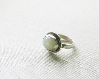 Sun and Moonstone Cabochon Ring