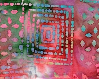 "Batik Fat Quarter 100% Cotton Fabric 18"" x 22"" - Multi-Color # 49"