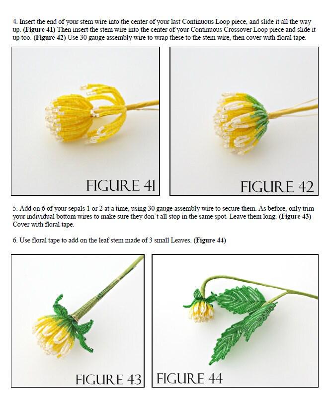 PDF Pattern - French Beaded Dahlias, seed bead flower tutorials ...