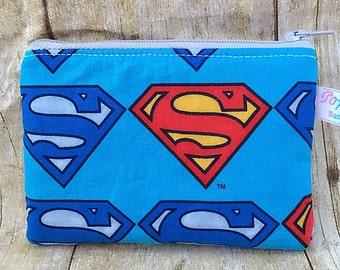 Change purse/ coin pouch/ small zipper pouch/ Superman