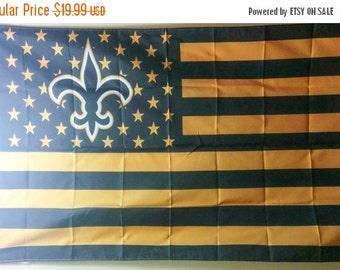 ON SALE New Orleans Saints, Saints Nation Flag or Banner 3' x 5'
