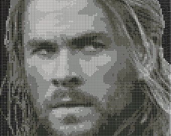 Thor Cross Stitch Pattern