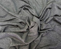 Charcoal Gray Rayon Modal Spandex Fabric Stretch Jersey Knit Fabric by the Yard. 200 grams.