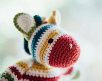 Zander the Crochet Zebra Amigurumi Toy