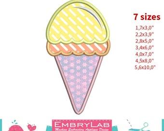 Applique Design Mini Icecream Sweet (16122)