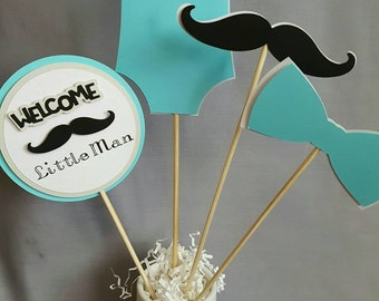 Little Man Centerpiece  Little Man Baby Shower Centerpiece Little Man  Centerpiece Little Man