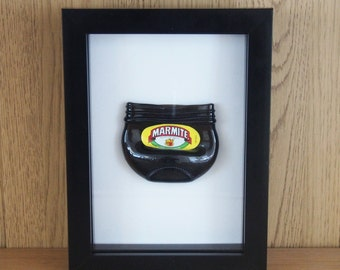 Upcycled Marmite Miniature Jar Picture